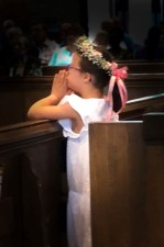 Faustine Jenny praying