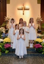 First Eucharist girls