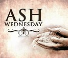 Ash Wednesday masses at 8:00 am and 7:00 pm