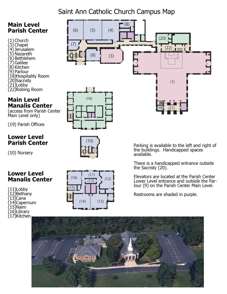 Campus layout and aerial photo