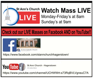Live Mass on FB & YouTube