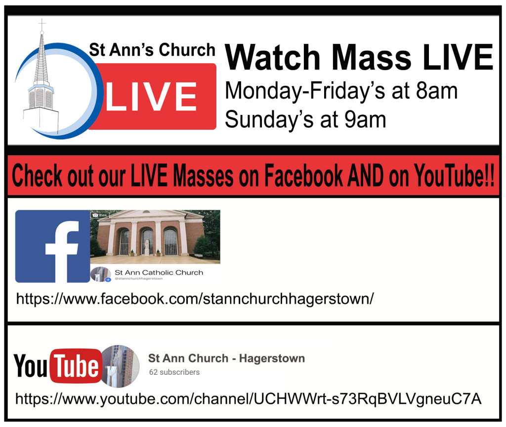 Mass available livestreamed on YouTube AND Facebook