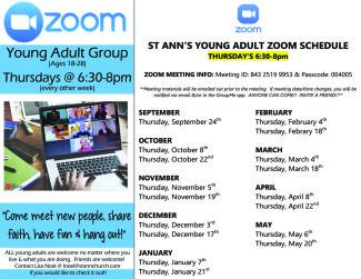 YA Zoom Meeting Info