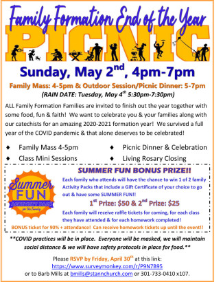 5-2-21 Family Formation End of Year Picnic Flyer