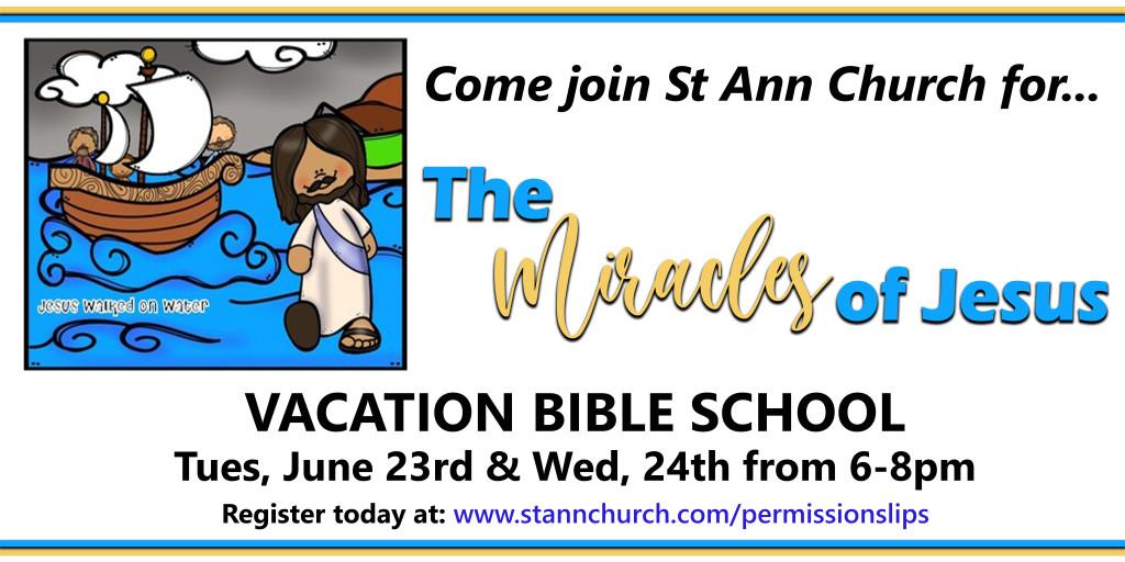 2021 Vacation Bible School is here!