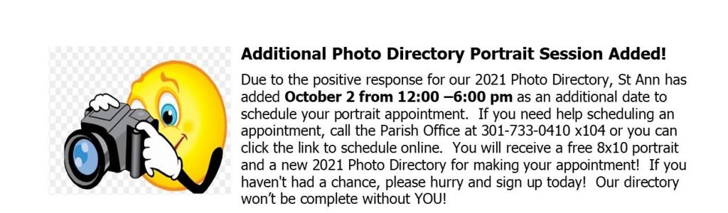 2021 St Ann Photo Directory